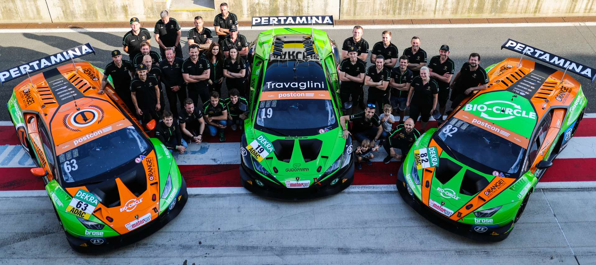 Orange1 by GRT Grasser in the points with all three cars in Sunday's race at Red Bull Ring